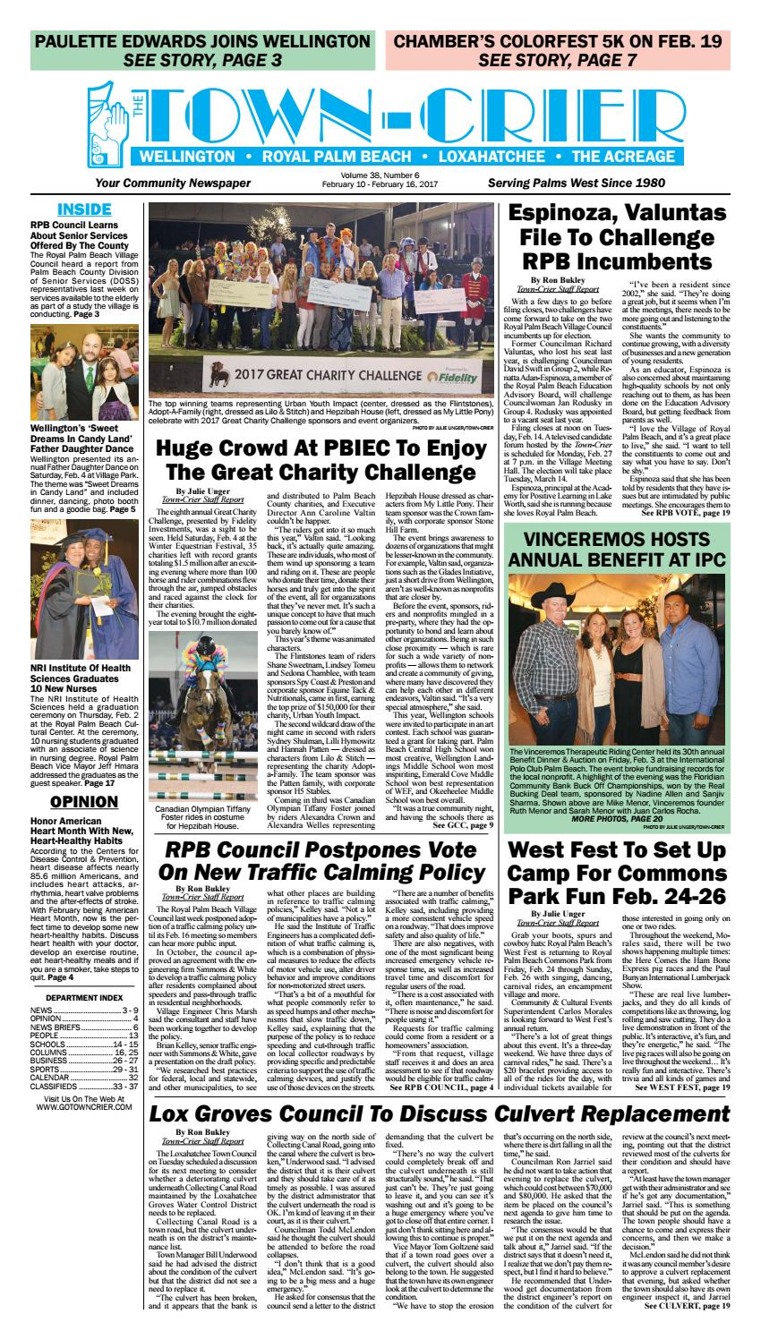 Town Crier Newspaper February 10 2017 By Wellington The Magazine LLC