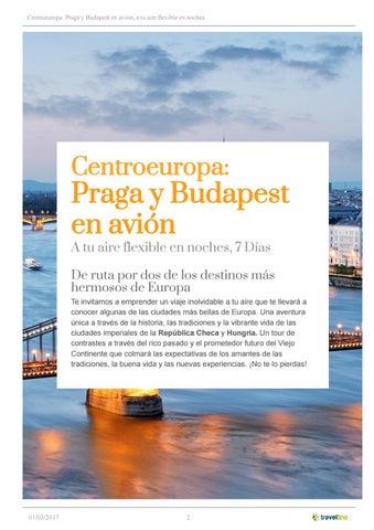 Centroeuropa Praga Y Budapest En Avión By Kerala Viajes Issuu