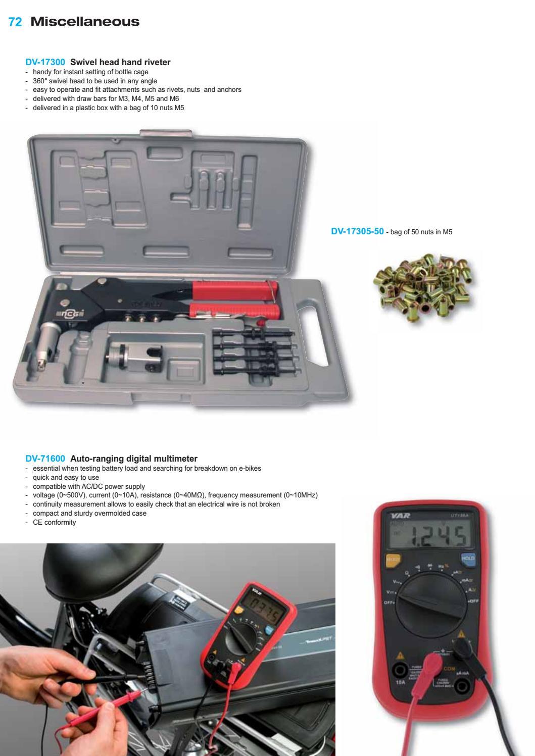 VAR Tools Catalogue En 2017
