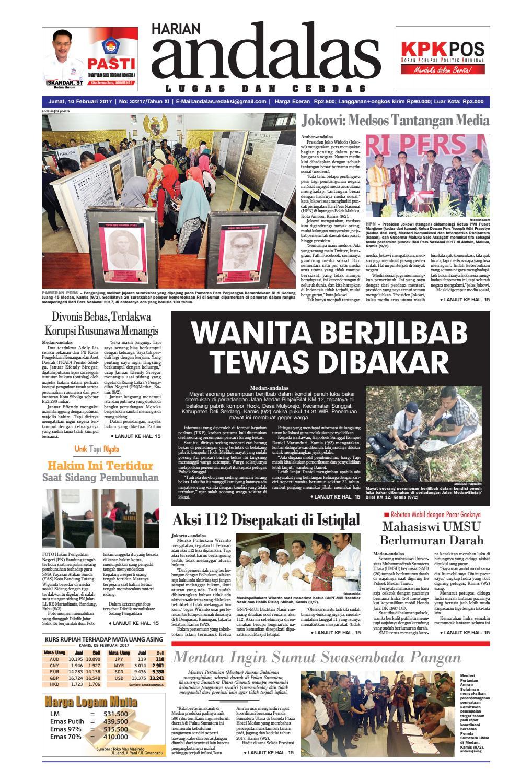 Epaper andalas edisi jumat 10 februari 2017 by media andalas - issuu ea354874e2