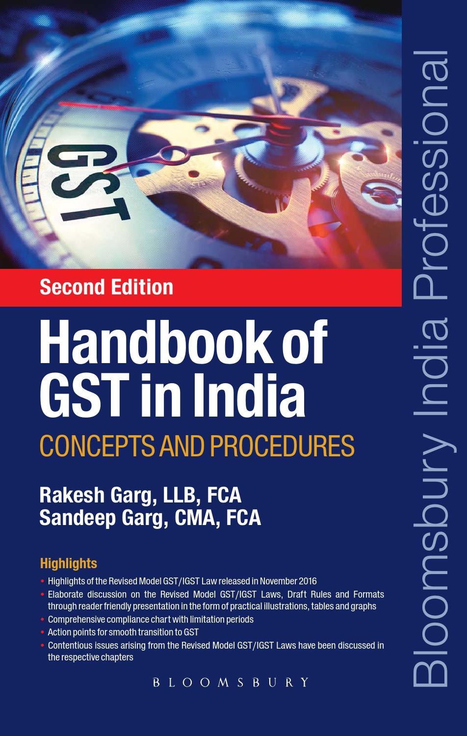 Handbook of GST in India: Concepts and Procedures – Second