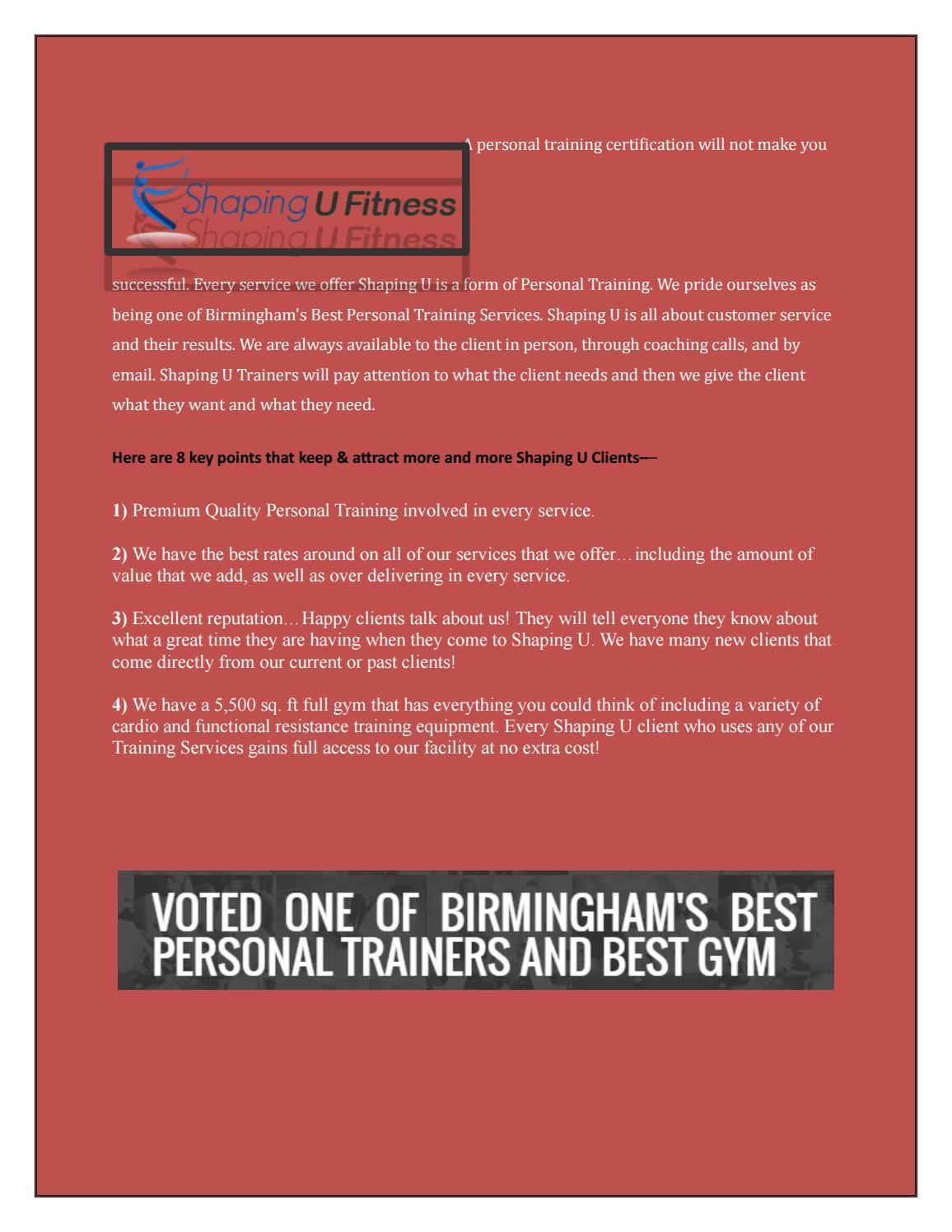Personal Trainer Bham Al By Bradshapingu Issuu
