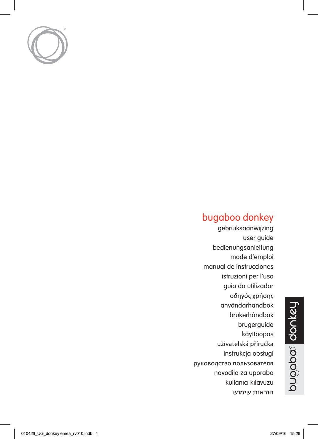 bugaboo donkey user guide emea by bugaboo international issuu rh issuu com bugaboo user guide cameleon bugaboo user guide cameleon