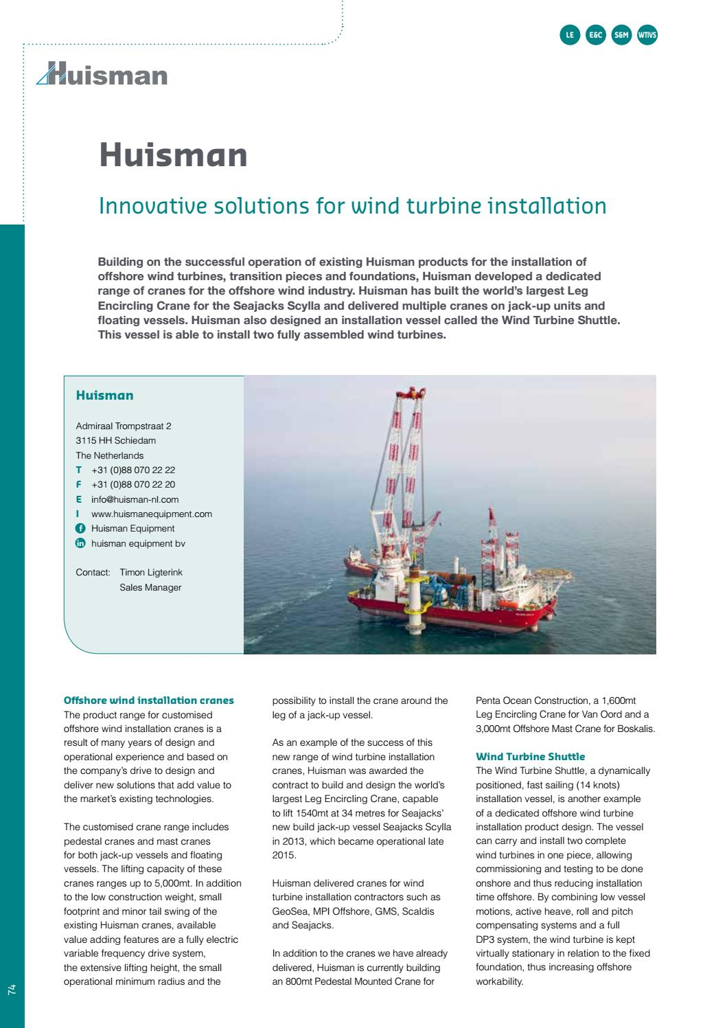 Offshore Wind International Business Guide 2017 By Navingo Bv Issuu Addition Power Plant Schematic Diagram In Homemade