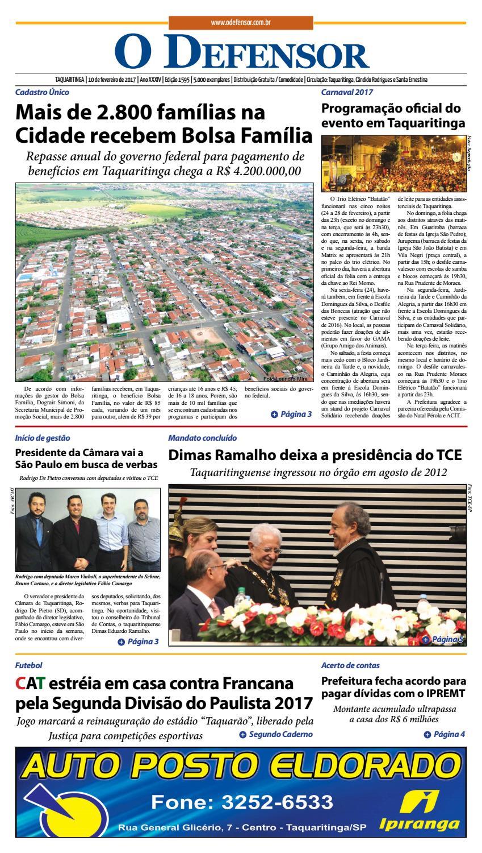 01372ab5f Jornal O Defensor 10 de fevereiro de 2017 by gabriel baglioti - issuu