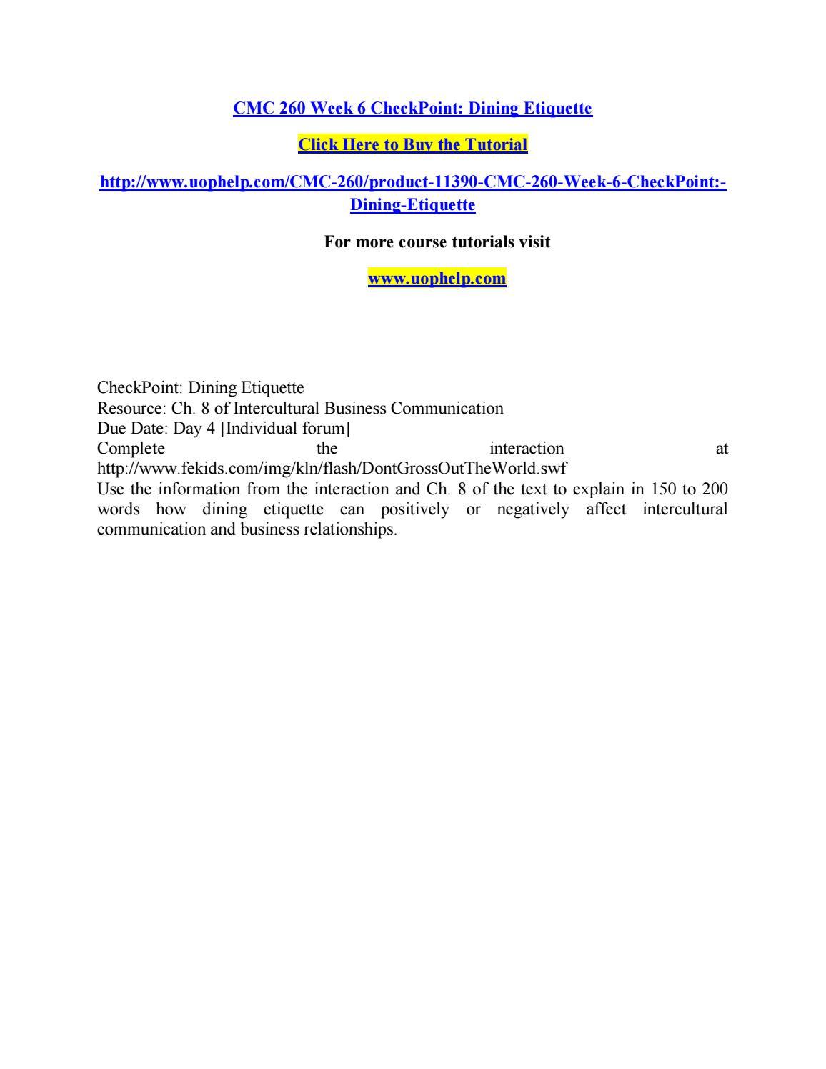 Cmc 260 week 6 checkpoint by pinck129 - issuu