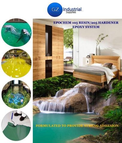 Epochem 105 resin and 205 hardener 3d epoxy flooring brochure in