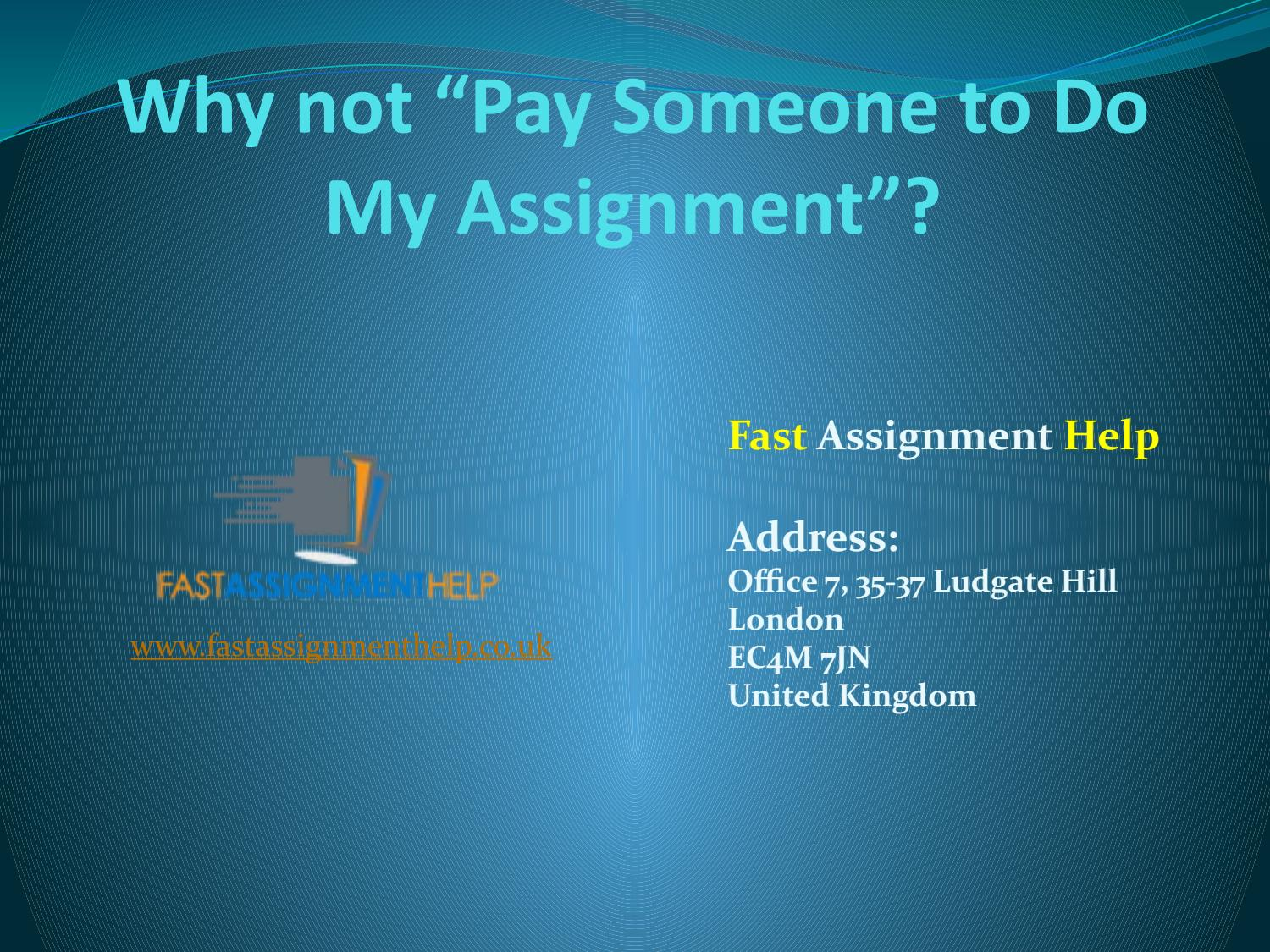 Pay for Assignment | Expert Writers at blogger.com