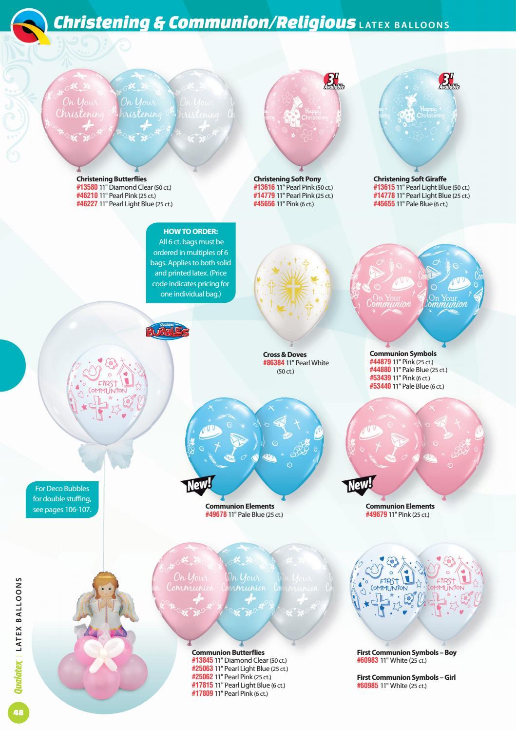 "Boy Latex Balloons 50 Count 11/"" First Communion Symbols"