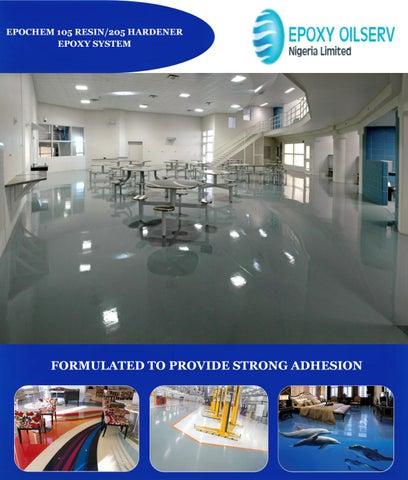 Epochem 105 resin and 205 hardener 3d epoxy flooring