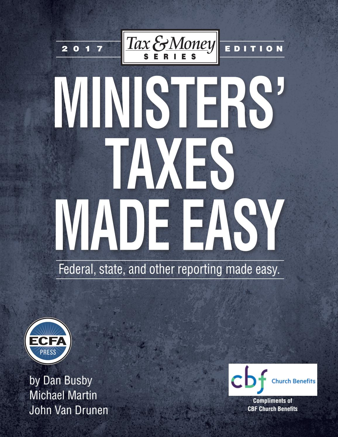 Ministers Taxes Made Easy By Cooperative Baptist Fellowship Issuu