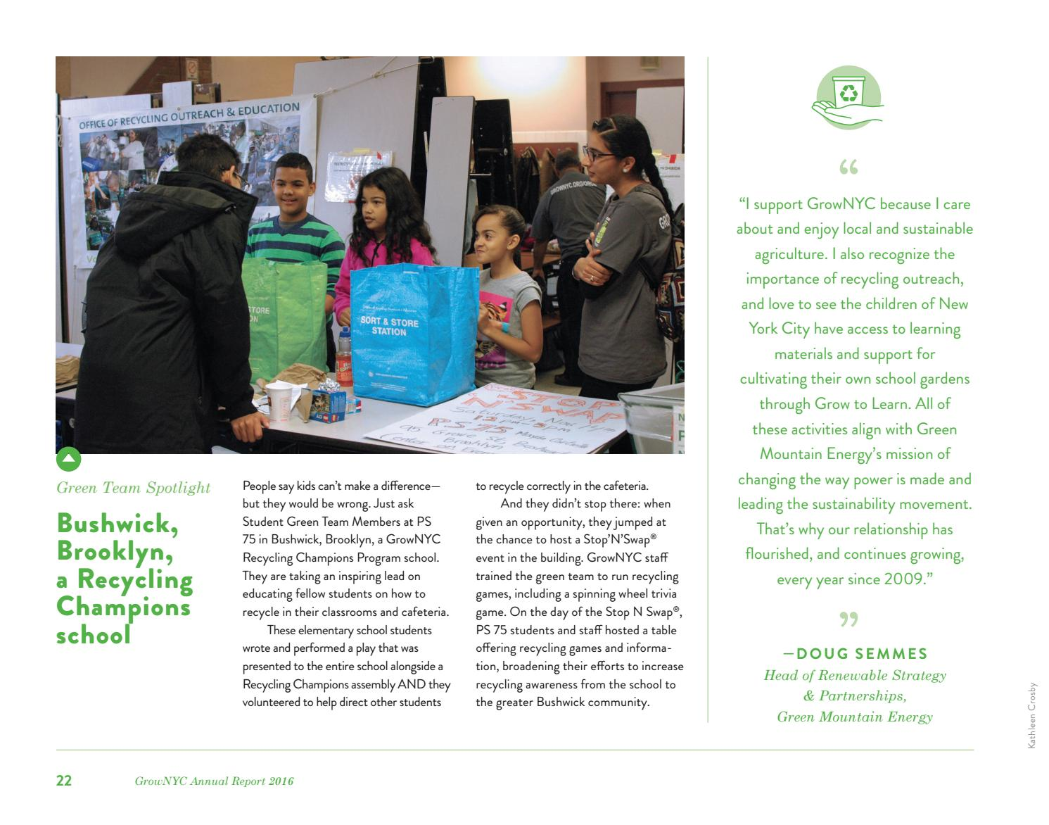 GrowNYC's 2016 Annual Report by GrowNYC - issuu