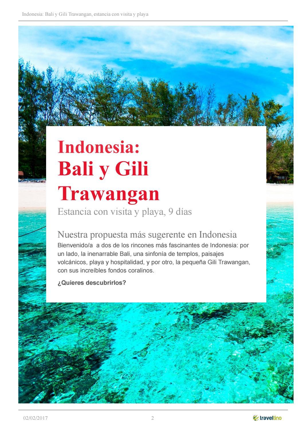 Indonesia, bali y gili trawangan by Kerala Viajes - issuu