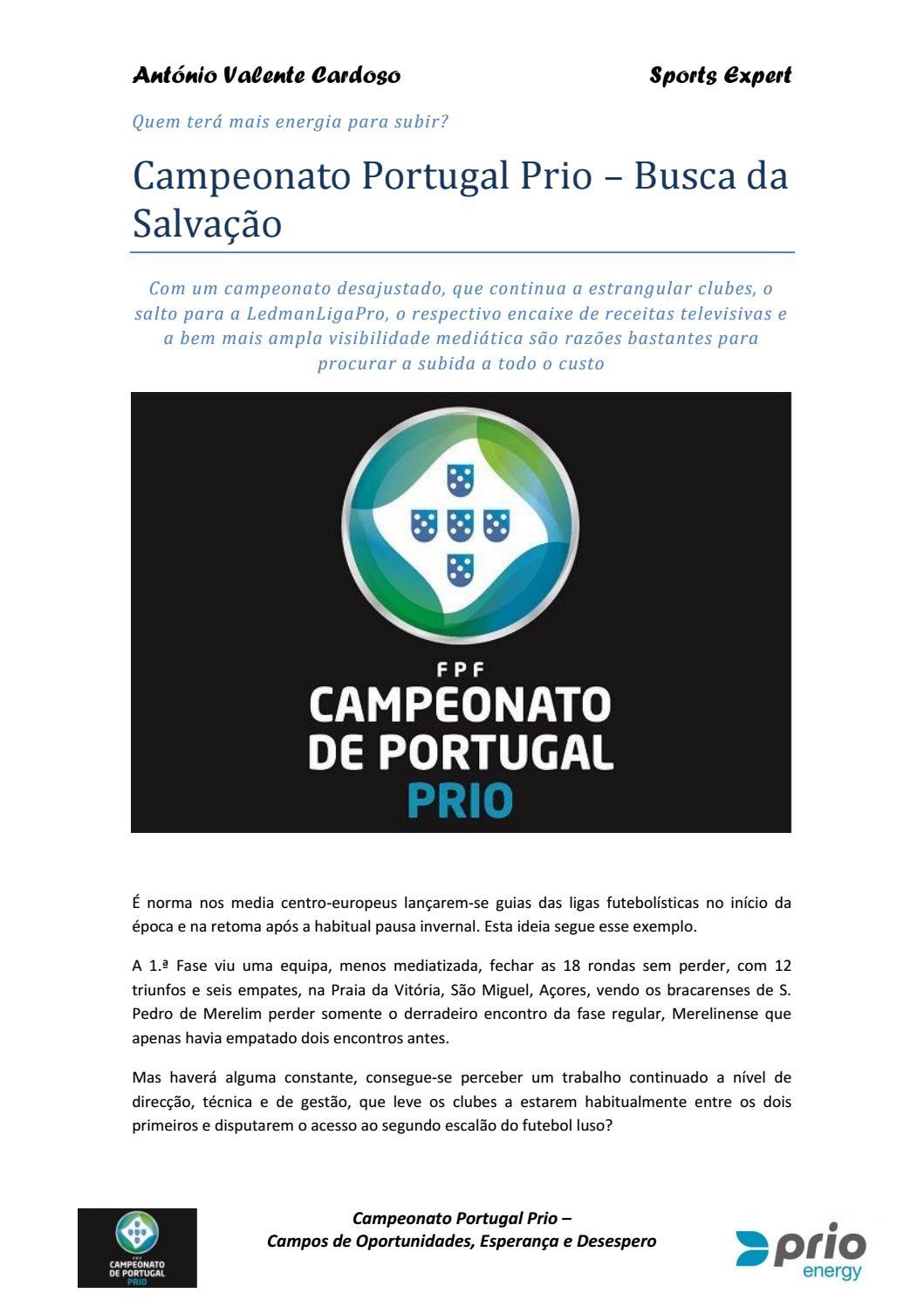 Campeonato Portugal Prio 1617 Guia Mediático Intermédio by Antonio Cardoso  - issuu d1f32237ef34e
