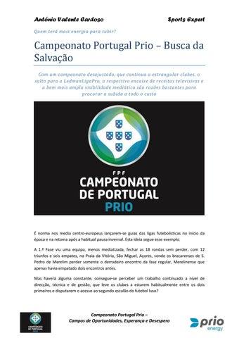 Campeonato Portugal Prio 1617 Guia Mediático Intermédio by Antonio ... c04e0b8f8b943
