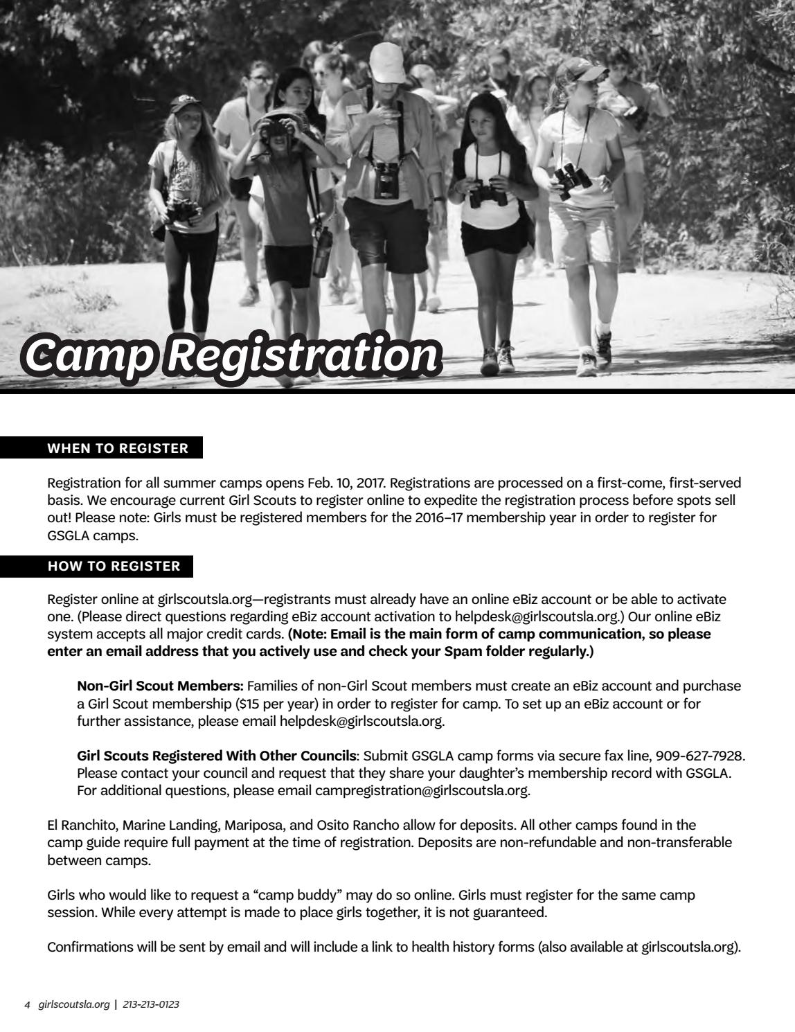 2017 greater camp guide by girl scouts of greater los