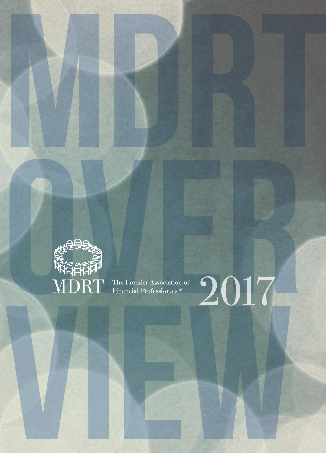Million Dollar Round Table Canada Mdrt Overview 2017 By Mdrt2016 Issuu