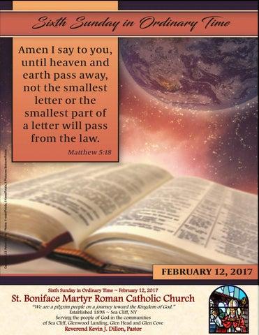 St  Boniface Martyr Parish Bulletin, February 12, 2017 by