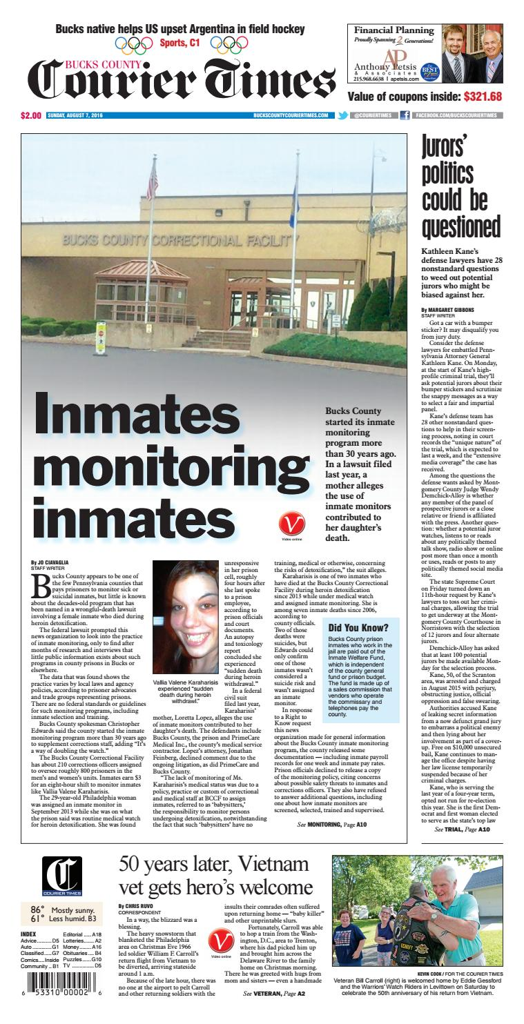 Inmate monitoring 1a augut 7 2016 copy by Jo Ciavaglia - issuu