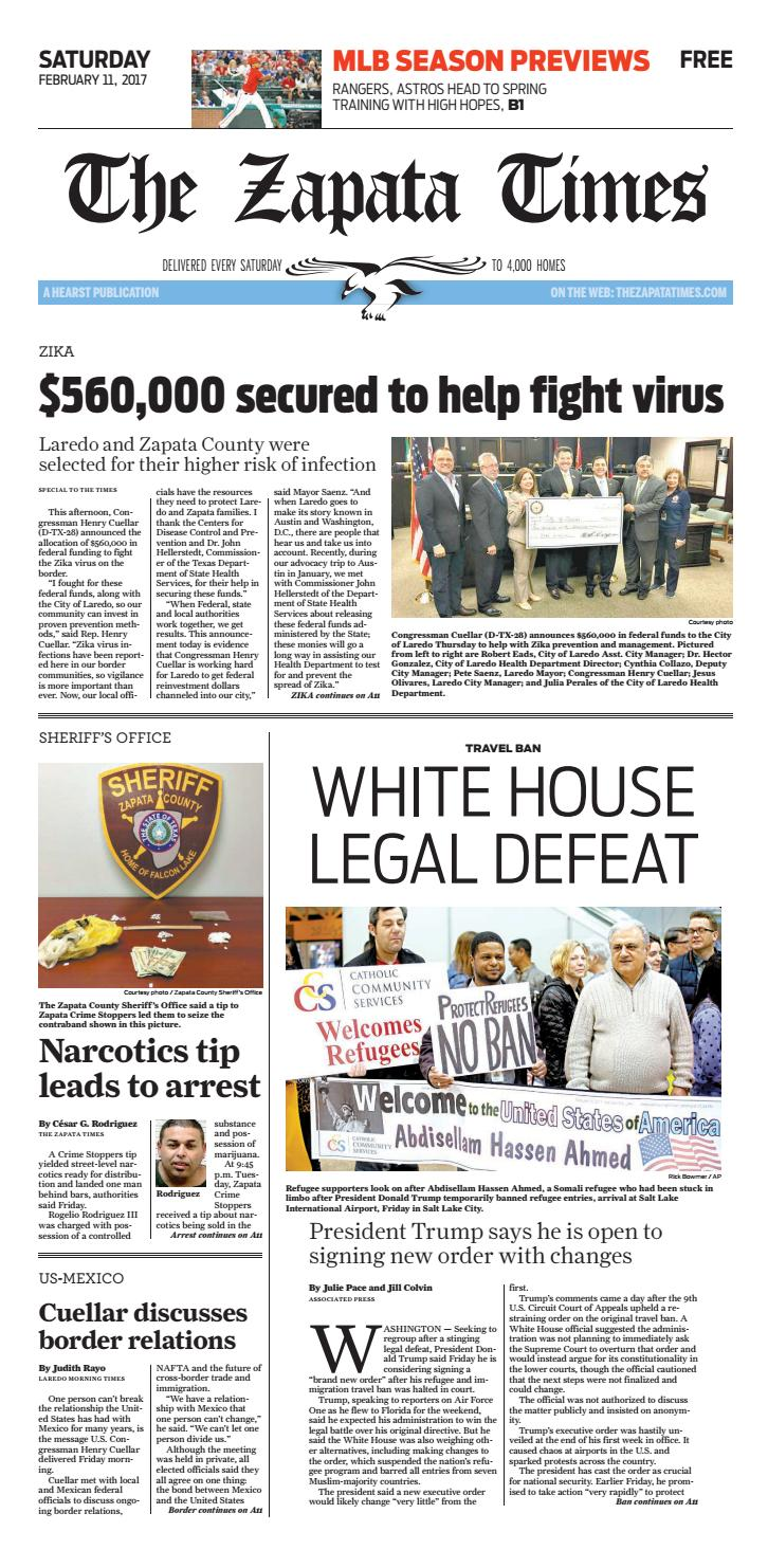 The Zapata Times 2/11/2017 by The Zapata Times - issuu