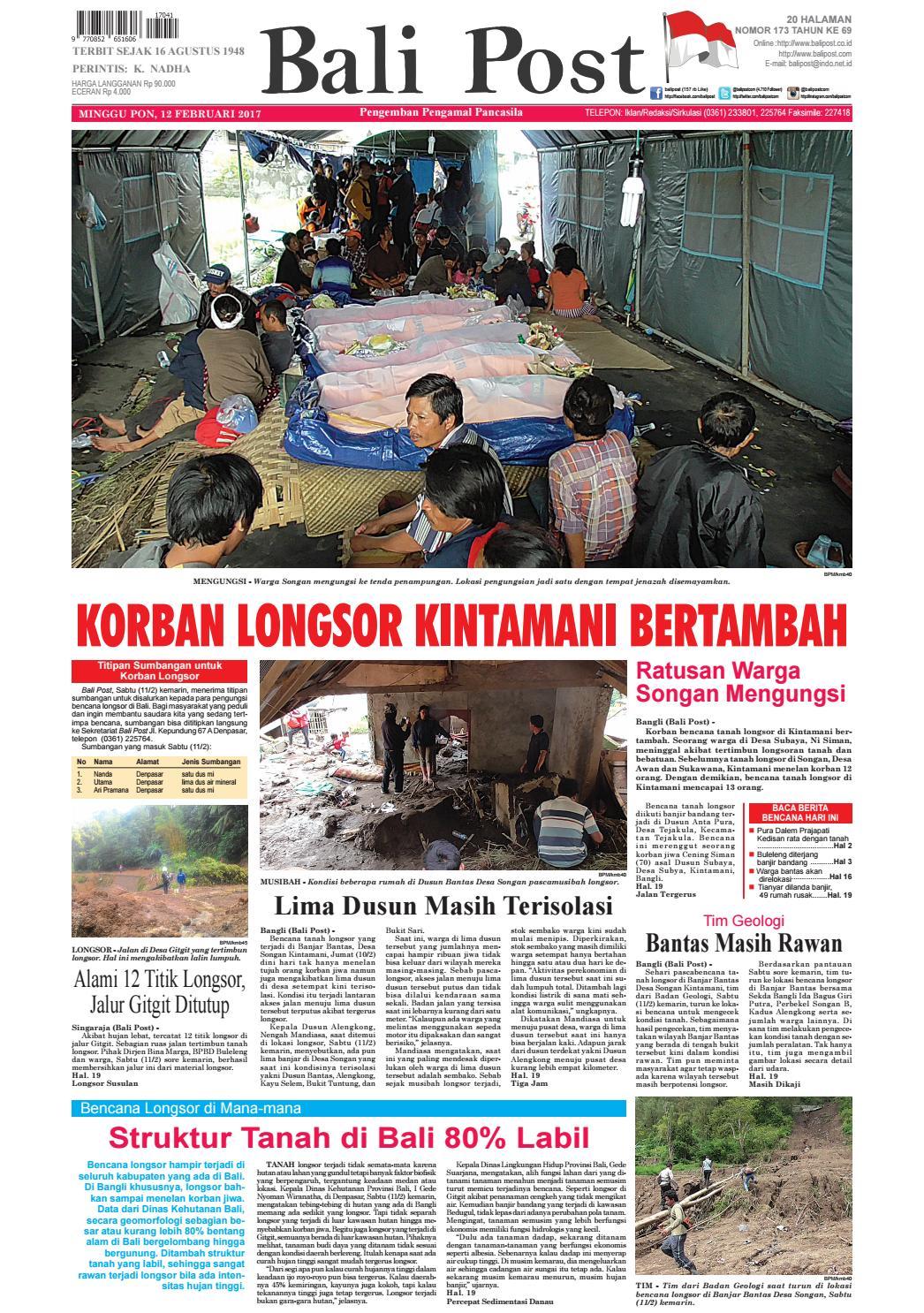 Edisi 12 Februari 2017 Balipostcom By E Paper KMB Issuu