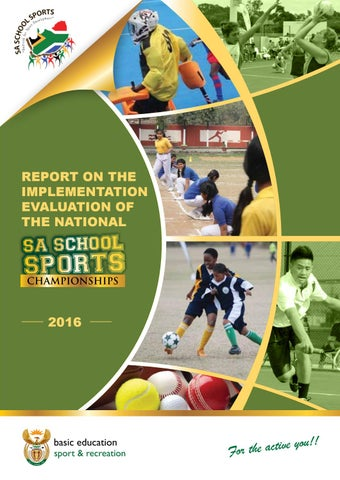Evaluation of the National School Sports Championships 2016 by Sport ...