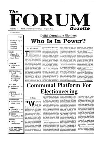 The Forum Gazette Vol  1 No  8 September 16-30, 1986 by The Sikh