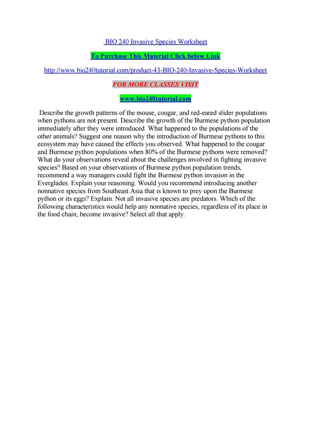 bio 240 invasive species worksheet by kelvinmanase02 issuu. Black Bedroom Furniture Sets. Home Design Ideas