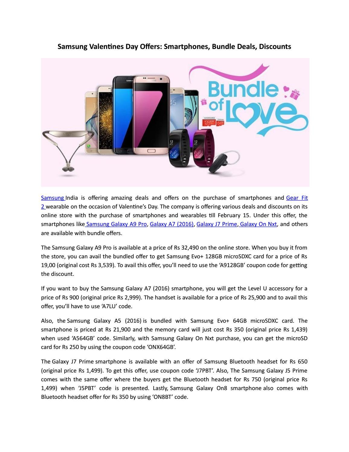 Samsung Valentines Day Offers Smartphones Bundle Deals Discounts Level U Original By Mobikart Issuu