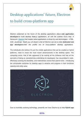 Desktop applications future electron to build cross platform