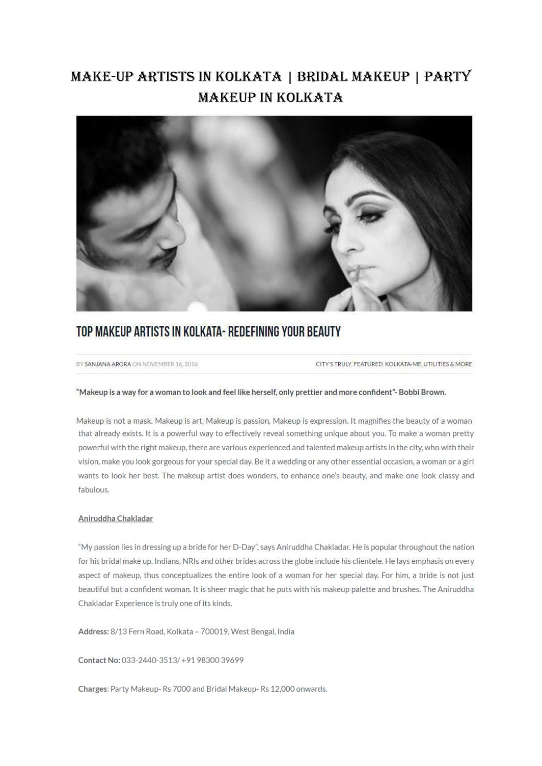 Make-Up Artists in kolkata | bridal makeup | Party Makeup in kolkata by Whatsuplife - issuu