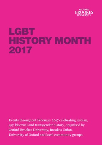 LGBT History Month Programme 2017 by EDI at Oxford Brookes