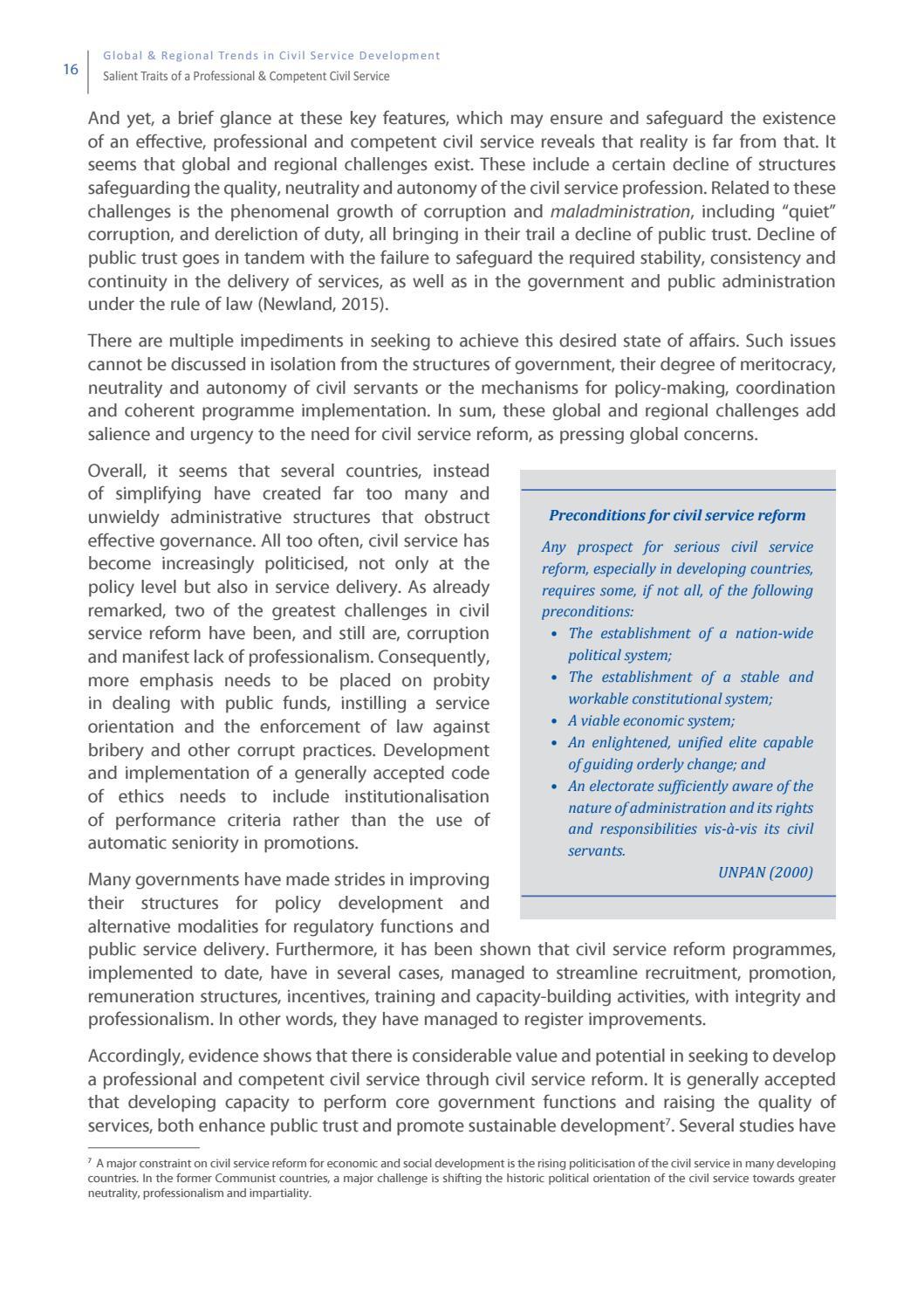 Study] Global & Regional Trends in Civil Service Development