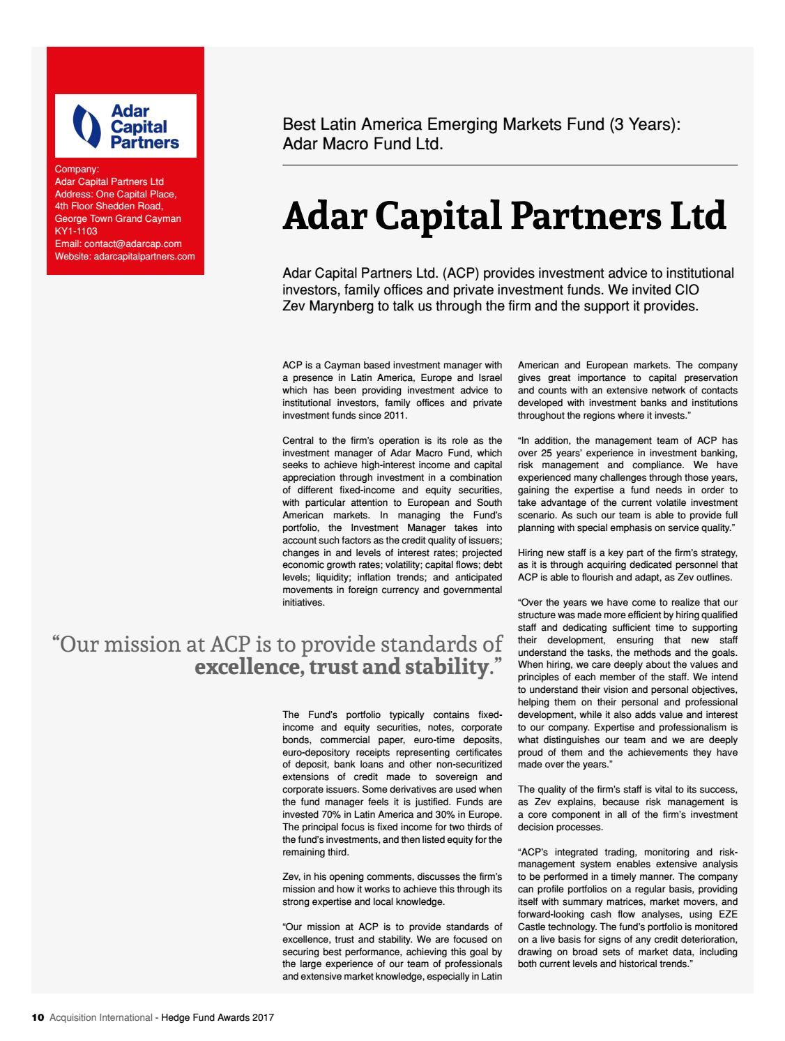 Adar Investment Management
