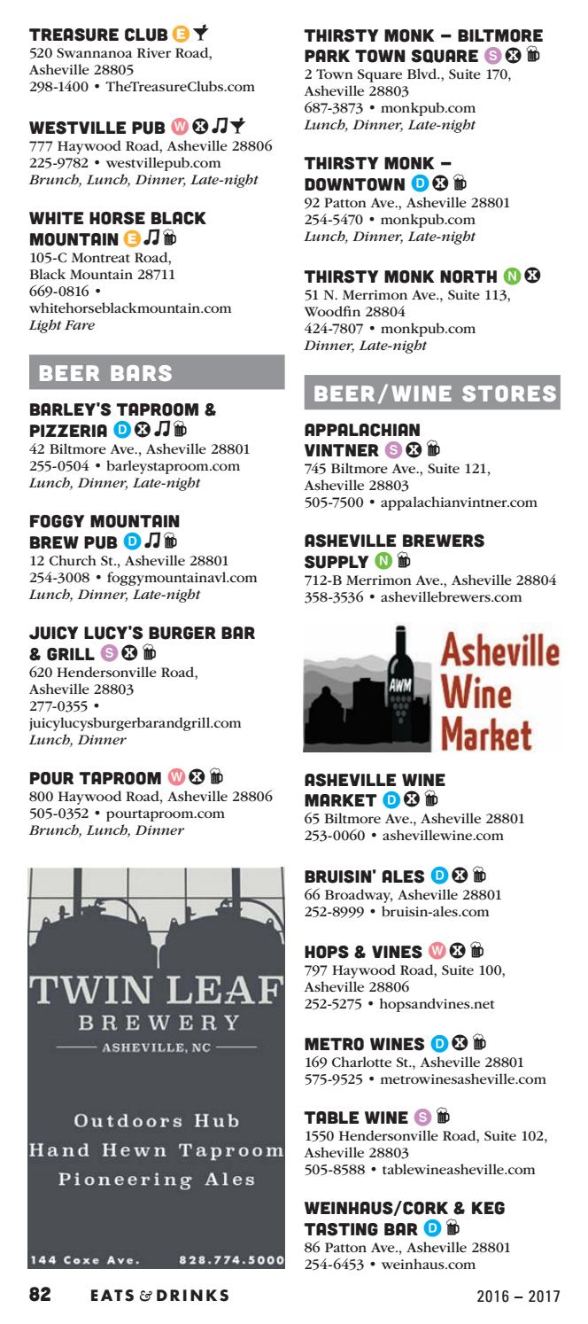 Asheville-Area Eats & Drinks (2016-2017) by Mountain Xpress