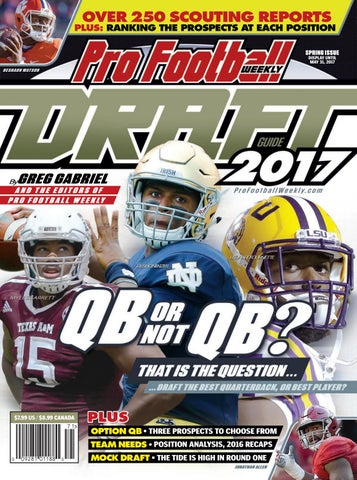 timeless design 874e1 469bf Pro Football Weekly Draft Guide 2017 by Shaw Media - issuu
