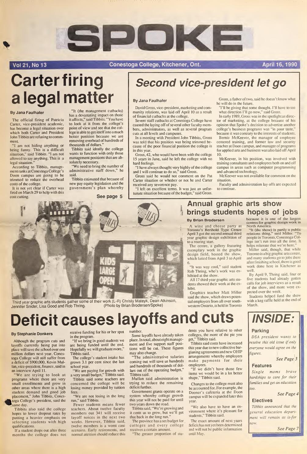 Digital Edition - April 16, 1990 by SPOKENewspaper - issuu