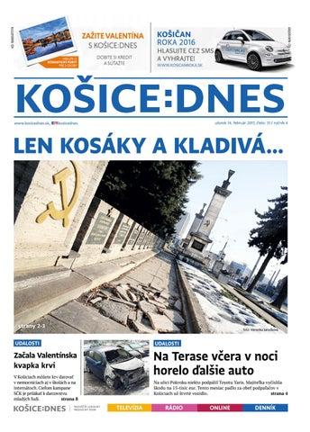 1639712da60a KOŠICE DNES 14.2.2017 by KOŠICE DNES - issuu