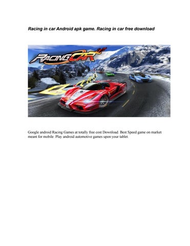 Racing in car Android apk game  Racing in car free download