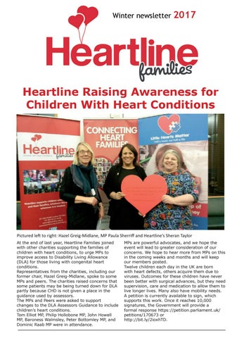 Winter 2017 Heartline Families Newsletter