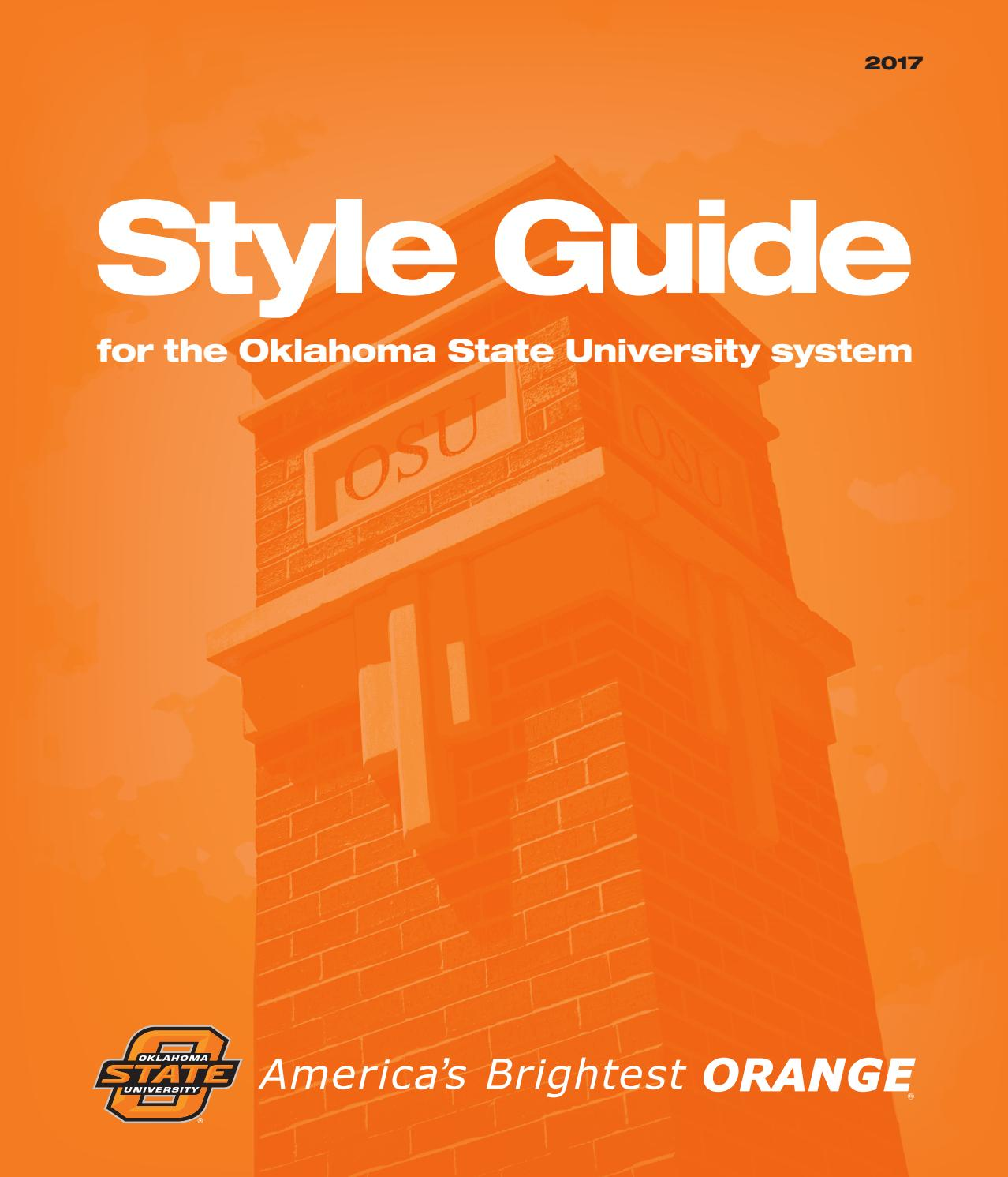 oklahoma state university style guide by oklahoma state issuu