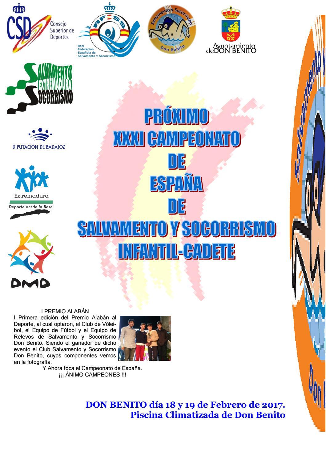 Revista cssdb xxxi campeonato de espa a de salvamento y for Piscina don benito