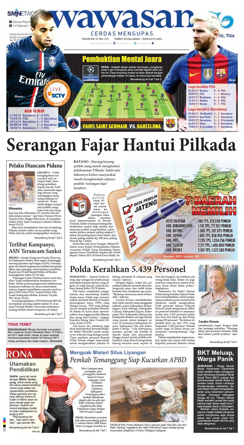 Wawasan 14 Februari 2017 By Koran Pagi Issuu Lg Kulkas Inverter Gn M572hphl 178cm Putih Bunga Khusus Jabodetabek