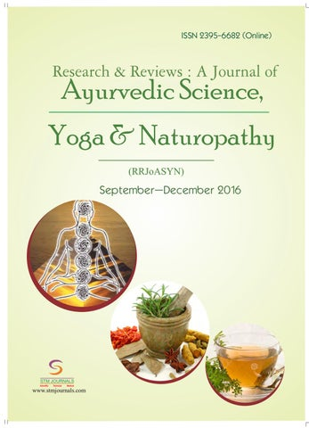 Journal of Ayurvedic Science, Yoga and Naturopathy vol 3 issue 3 by