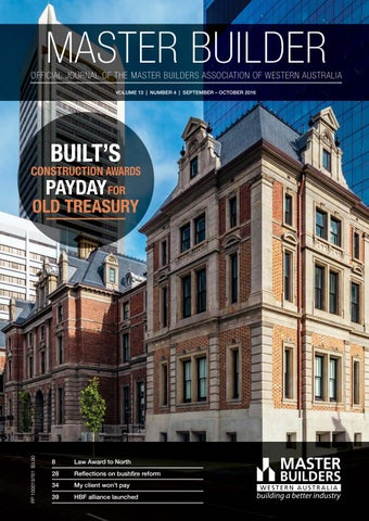 Master Builders WA Journal September October 2016