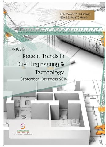 Recent Trends in Civil Engineering & Technology vol 6 issue 3 by STM