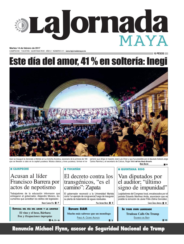 La Jornada Maya · Martes 14 de febrero 58e54a5111894