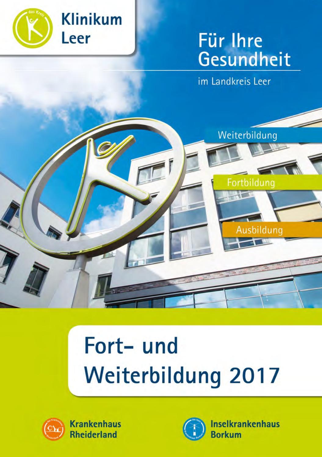 Programmheft Fortbildungen Klinikum Leer 2017 by klinikumleer - issuu