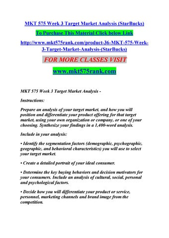 Mkt  Week  Target Market Analysis MktRankCom By Apdleeeo