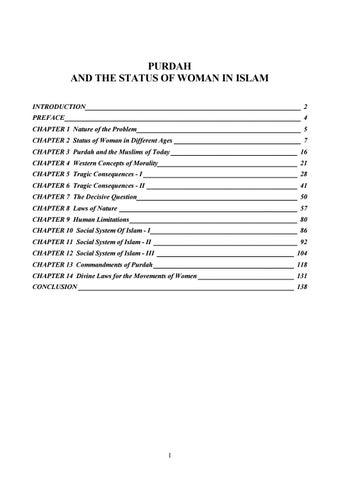 Purdah the status of women in islam by sayyid abul aala